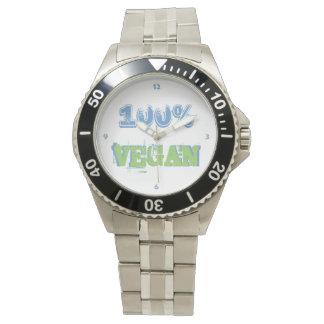 100% VEGAN -.- 100 m wasserdicht aus Edelstahl Armbanduhr
