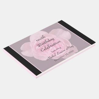 100th Geburtstags-rosa Rosen-Gast-Buch Gästebuch
