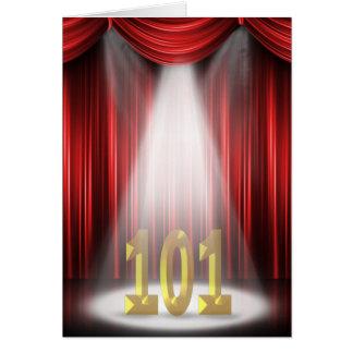 101st Geburtstag im Scheinwerfer Karte