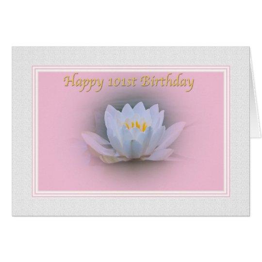 101st Geburtstag, Wasser-Lilie Karte
