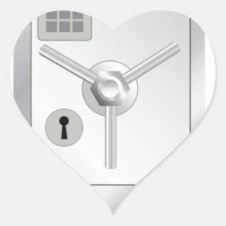 108Metal Safe_rasterized Herz-Aufkleber