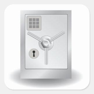 108Metal Safe_rasterized Quadratischer Aufkleber