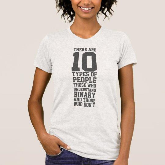 10 Arten Leute-lustige Zweiheit T-Shirt