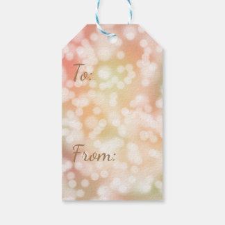 10 Bokeh Geschenk-Umbauten, blaß erröten rosa Geschenkanhänger