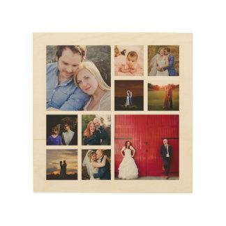 10 Foto-Collagen-hölzerne Leinwand-Wand-Kunst Holzwanddeko
