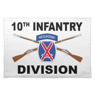 10. Infanteriedivision - Berg - gekreuzte Gewehre Tischset