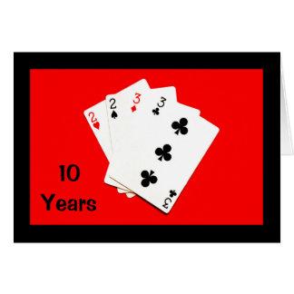 10 Jahre ist eine große Sache! Jahrestags-Karte Karte