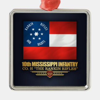 10. Mississippi-Infanterie Silbernes Ornament