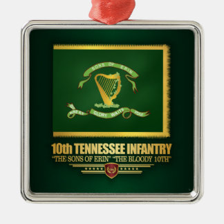 10. Tennessee-Infanterie Silbernes Ornament