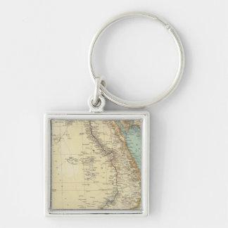 115 Ägypten Silberfarbener Quadratischer Schlüsselanhänger
