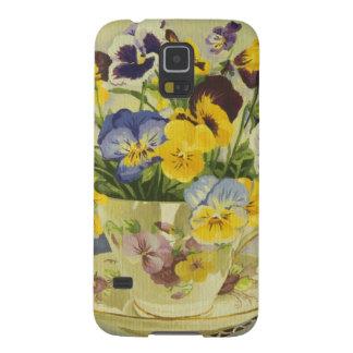 1187 Stiefmütterchen im Teacup Galaxy S5 Hülle