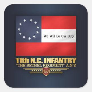 11. North Carolina-Infanterie Quadratischer Aufkleber