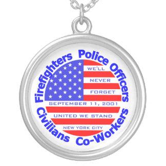 11. September 2001 Halskette Mit Rundem Anhänger