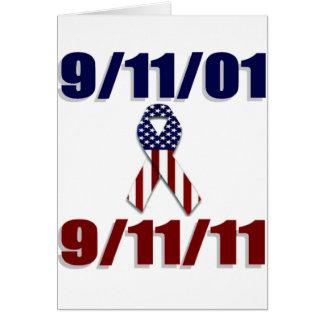 11. September 2001 zehnjähriger Jahrestag Grußkarte