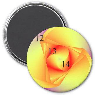 12/13/14 Blut-und Dreieck-Magnet Runder Magnet 7,6 Cm