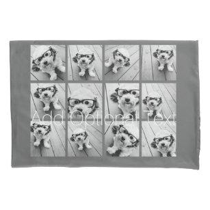 12 Foto-Collage mit kundenspezifischem Kissenbezug