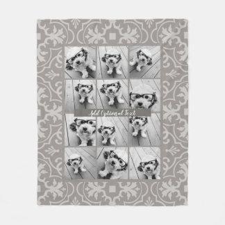12 Foto-Collage - rustikales Fleecedecke