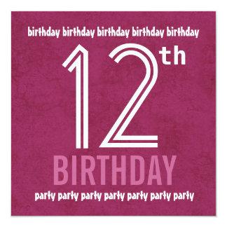 12 Geburtstag Mädchen Einladungen | Zazzle.ch, Einladungs