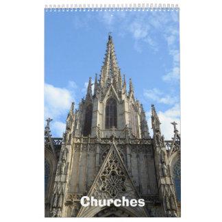 12 Monat Kirchen-FotoWandkalender 2017 Abreißkalender