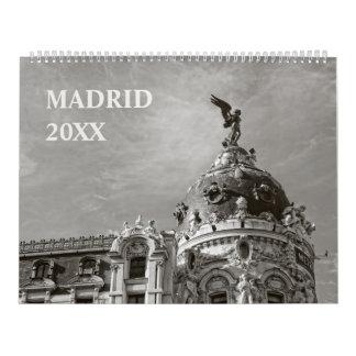 12 Monate Madrid-Kalender Kalender