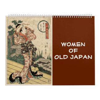 12-monatige Frauen von altem Japan (japanische Kalender