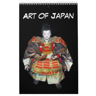 12-monatige Kunst von Japan Kalender