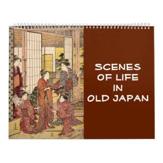 12-monatige Szenen von altem Japan (japanische Kalender