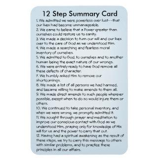 12 Schritt-Summenkarte Magnet
