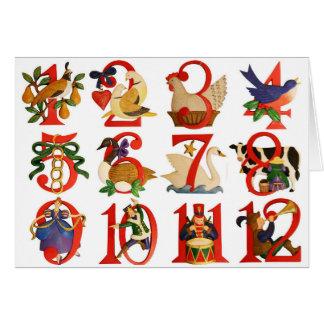 12 Tage Weihnachten Karte