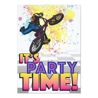 12x18 BMX Geburtstags-Einladung 12,7 X 17,8 Cm Einladungskarte
