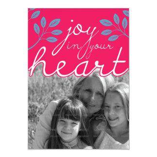 12x18 Freude in Ihrer Herz-flachen Karte | 12,7 X 17,8 Cm Einladungskarte