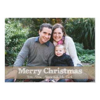 12x18 frohe Weihnacht-Leinwand-Band-Foto-Karte 12,7 X 17,8 Cm Einladungskarte