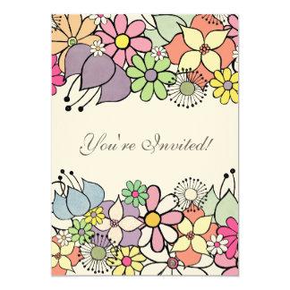 12x18 füllen heller Blüten-freier Raum Einladung