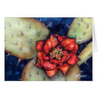 12x18 Karte mit stacheliger Birne w/flower des