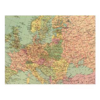 1314 politisches Europa Postkarte
