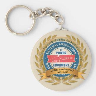 135th Jahrestags-Schlüsselkette Standard Runder Schlüsselanhänger