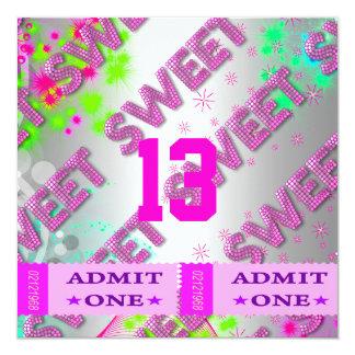 13. Bonbon 13 Geburtstags-Party-Karten-Spaß Quadratische 13,3 Cm Einladungskarte