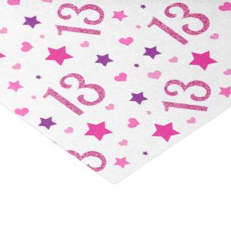 13. Geburtstags-Mädchen-Rosa-Glitzer-Seidenpapier Seidenpapier