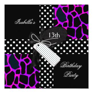 13. Geburtstags-Partyjugendlichmädchen Karte