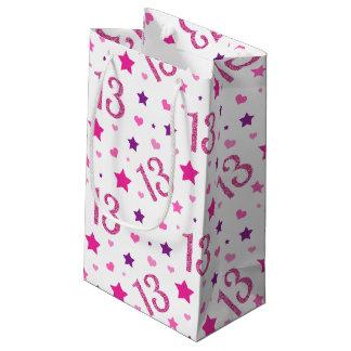 13. Mädchen-Geburtstags-Geschenk-Taschen-Rosa-lila Kleine Geschenktüte