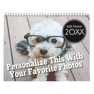 14 Foto-Schablonen-volle Abdeckung - Abreißkalender