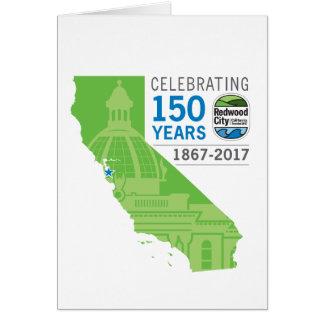 150. Jahrestag Redwood City Karte