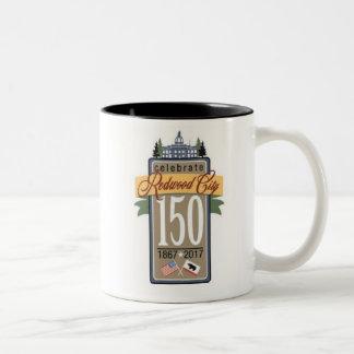 150. Jahrestag Redwood City Zweifarbige Tasse