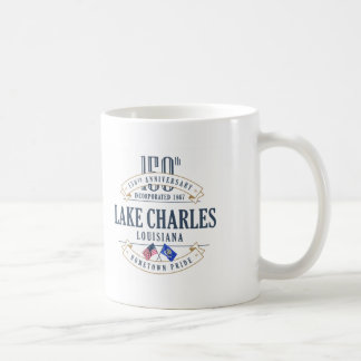 150. Jahrestags-Tasse Lake Charles, Louisiana Kaffeetasse