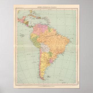 15152 Südamerika politisch Poster
