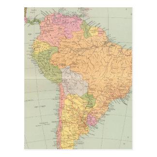 15152 Südamerika politisch Postkarte