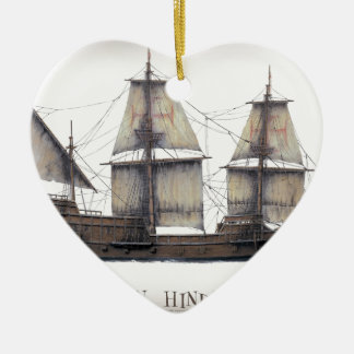 1578 goldenes Hinde Schiff Keramik Ornament