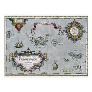 1584 Azoren-Karte Postkarte