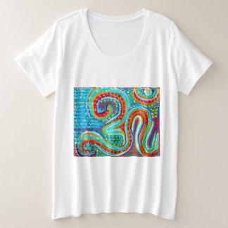 158 Arten 255 färbt OM-BESCHWÖRUNGSFORMEL OMmantra Große Größe T-Shirt