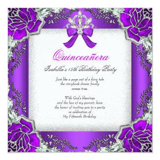 15. Geburtstags-Party Prinzessin-Quinceanera Quadratische 13,3 Cm Einladungskarte